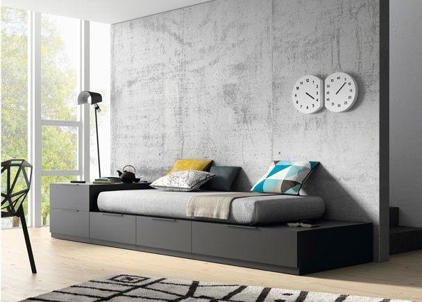 Salón cama modular tatami cajones y escritorio
