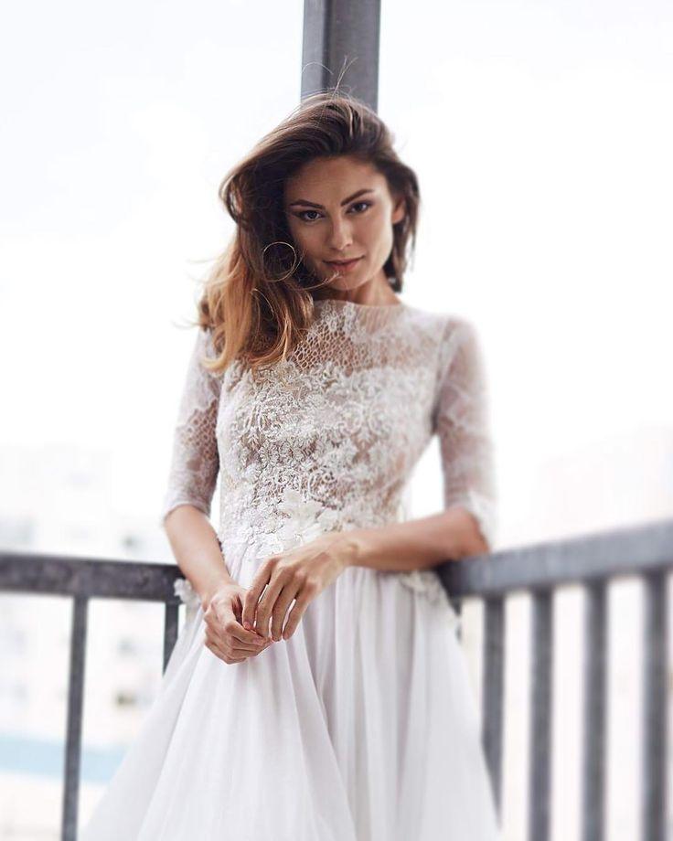 Beautiful @claudiabenu looking absolutely radiant wearing @dimatelier.official 'Freya'
