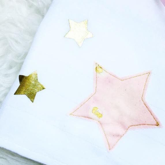 Lange en coton Etoiles Cloth nappy / Cloth diaper with stars Lange ; Cadeau naissance ; Birth gift ; Nani Iro