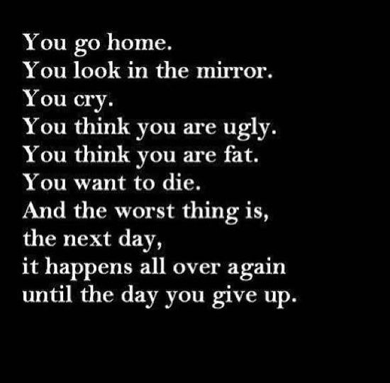 Sad Quotes About Anxiety: Top 25 Ideas About Sad Fat Quotes On Pinterest