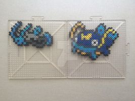 #339-#340 Barboach and Whiscash Perlers by TehMorrison
