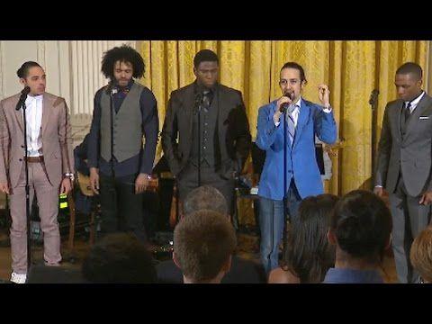 """Hamilton cast performs """"Alexander Hamilton"""" at White House - YouTube"""