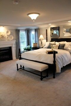 love this master bedroom colors and decorations