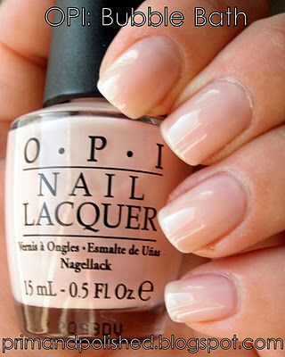 opi bubble bath...one of my favorite polish shades ever.