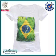 brazil flag printing ladies clothes white promotion oem  Best Seller follow this link http://shopingayo.space