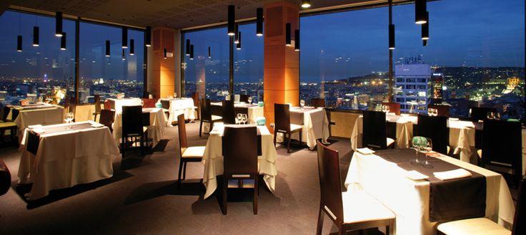 VISUAL Restaurante con vistas de Barcelona - Hotel Torre Catalunya   Vacaciones