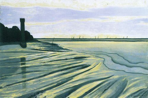 Félix Vallotton (Swiss, 1865-1935), Mud Flat near Honfleur in Evening Light, 1917. Oil on canvas, 54 x 81 cm.