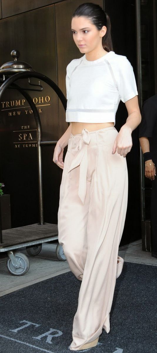 crop top and palazzo pants