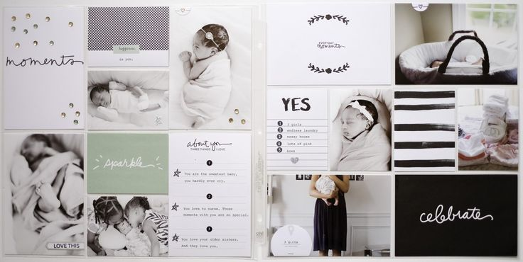 Azzari Jarrett featured the Stampin' Up! Moments Like These collection of cards to perfectly complement the photos of her newborn baby. These layouts really come to life using the Project Life Layout 01 and 02 Photo Pocket Pages from Stampin' Up!