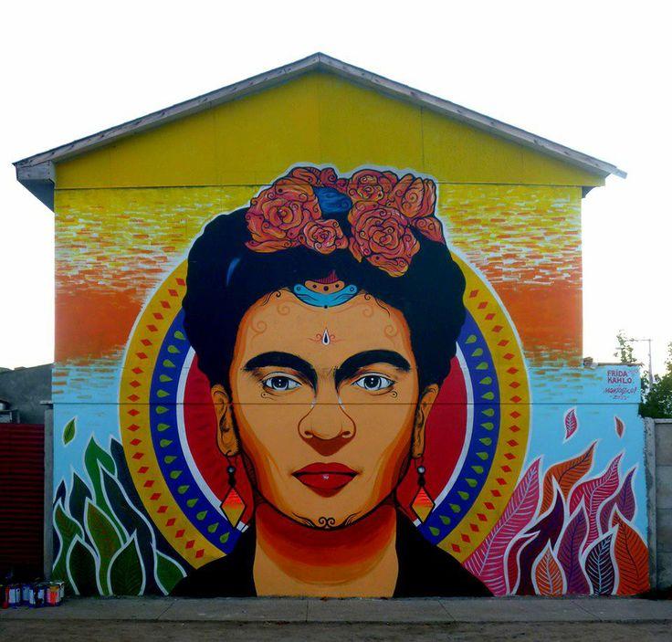 Frida Street Art by Mamtastico. Location: Graneros, Chile