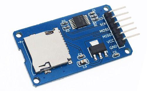 Módulo Leitor de Cartões Micro-SD. Este módulo é um leitor de cartões micro SD para leitura e gravação atarvés do sistema de arquivos e da interface SPI. Usuários do Arduino podem utilizar a IDE para inicializar e ler e gravar diretamente no cartão. #arduino #projeto #cartão #SD #microSD