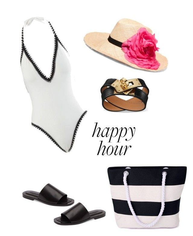 """""""Happy hour"""" by onerosebythesea on Polyvore featuring Seafolly, Eugenia Kim and Charles David"""