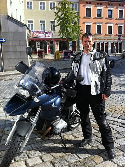 BMW R 1200 GS, year build 2005. Owner Manfred Biedermann Head of Sales & Contracts, MAN PrimeServ Turbo.  Riding a motorbike is a passion. Bringing time to the pleasure is a challenge. Picture show's Pilsen in the back from a trip to Prag 2012.