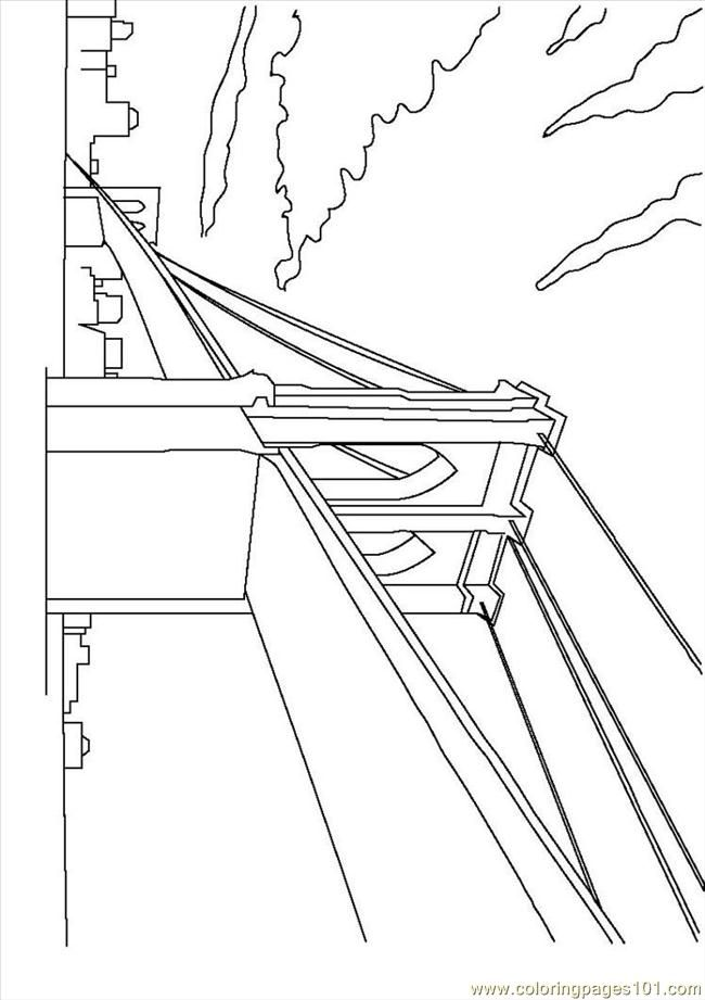 Brooklyn Bridge Coloring Page Free Printable Coloring Pages