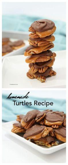 Recipe- Homemade Candy  Homemade Turtles Recipe