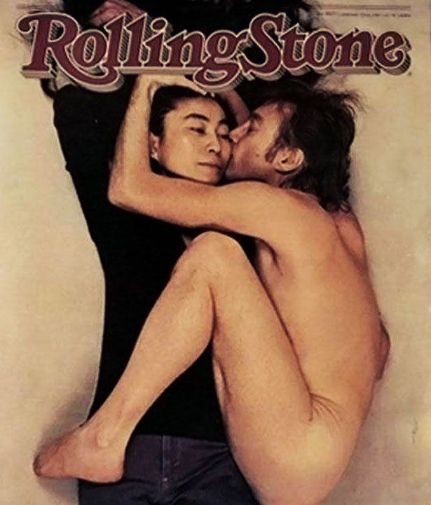 Rolling Stone, January 22, 1981: John Lennon and Yoko Ono. Annie Leibovitz took this shot just hours before John Lennon was shot outside of his apartment building, the Dakota, in New York City on December 8, 1980. Leibovitz originally wanted to take the shot of Lennon alone but he insisted that his wife be in the pictures. This cover was named the most popular magazine cover of the past 40 years by the American Society of Magazine Publishers.