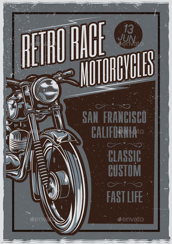 Retro Race Poster