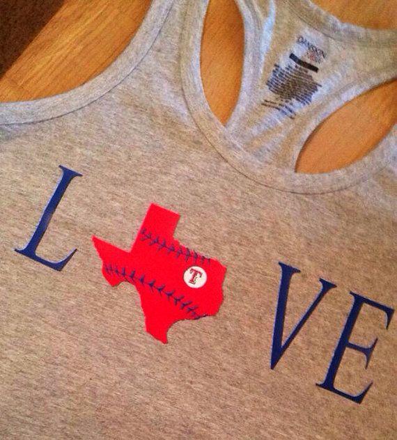 Texas Rangers Love tank on Etsy, $15.00