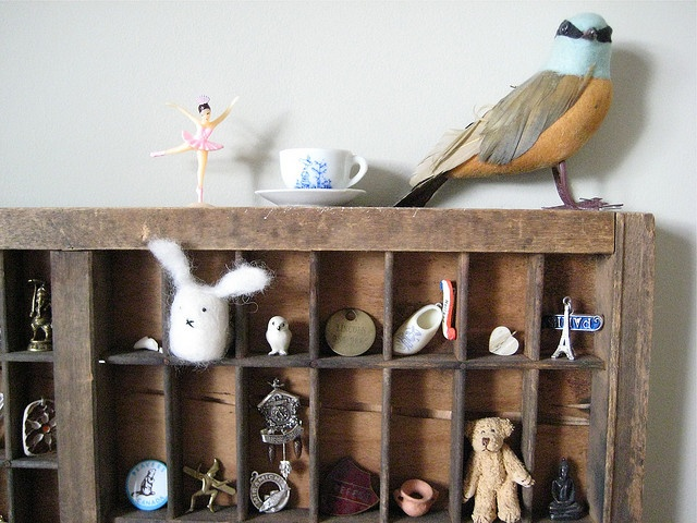 Wooden trinket wall cabinet