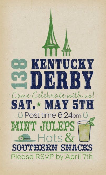 Derby party invite