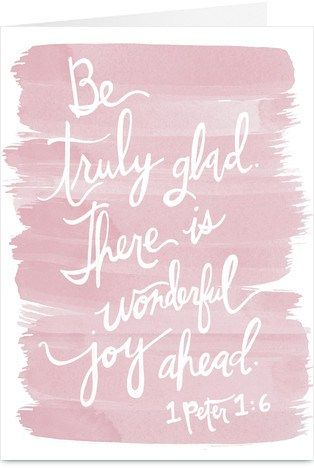 there is wonderful joy ahead
