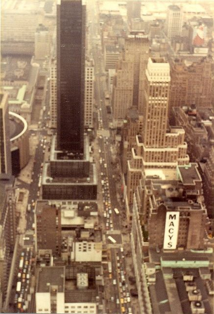 View from the Empire State Building, 1982.: Empire States Building, Empire State Building, 1980S Big, Photo