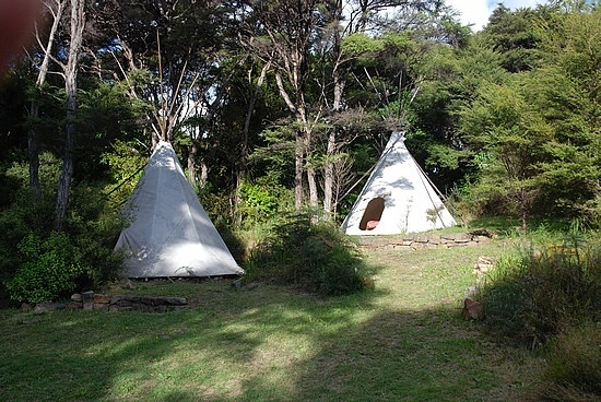 TeePee camping at Solscape. Raglan, New Zealand - what a great experience.