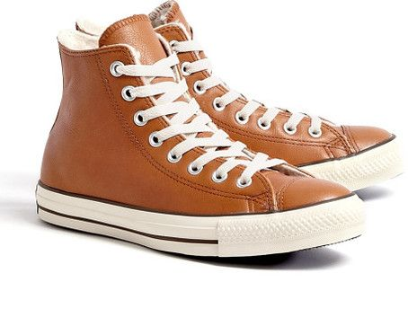 Converse Brown Tan Leather Chuck Taylor All Star High Tops