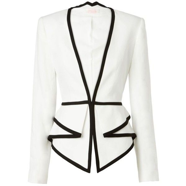 Sass & Bide Two Dimensions Tailored Jacket With Peplum Detail. Would love it as black with white piping