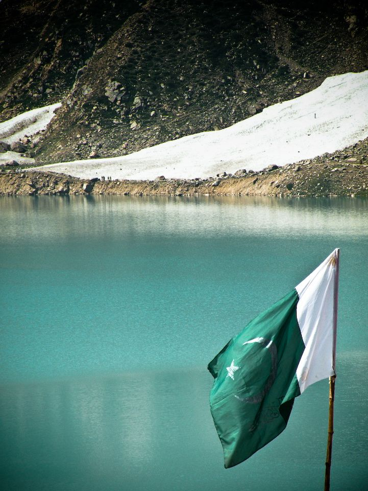 Pakistan flag... at Lake Saif al Malook...
