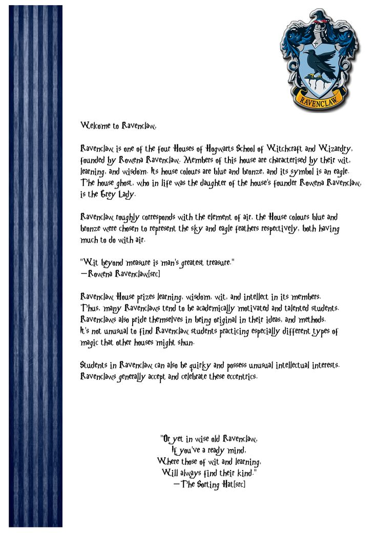 slytherin house welcome letter - photo #17