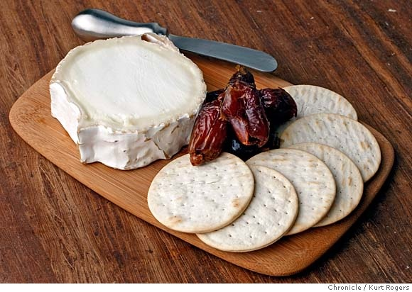 Cheese course French goat's milk Bucherondin perfect for