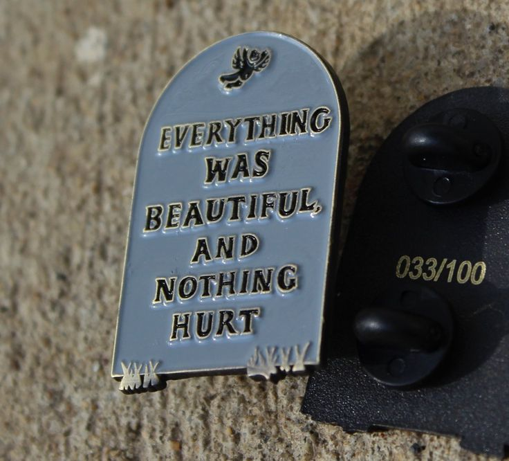 Slaughterhouse Five quote pin