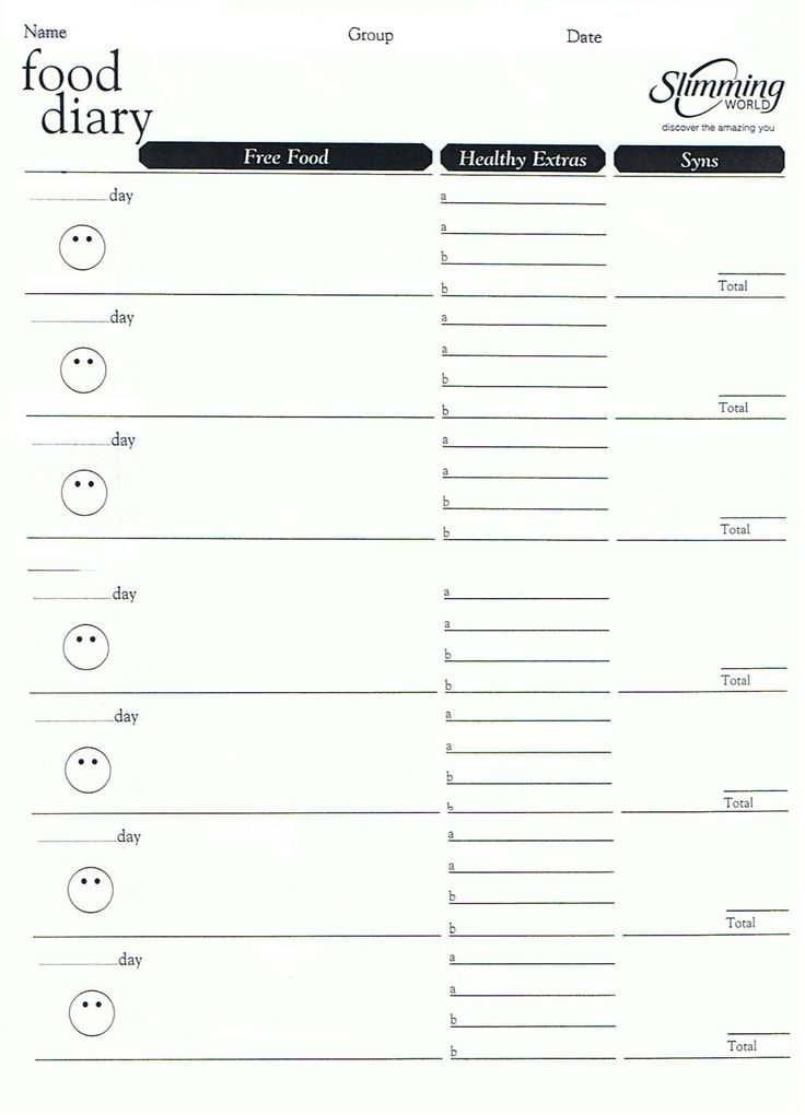 weight watchers menu planner template