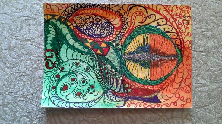 Doodle by Elsa Marthinsen. 17x24cm. 200g paper.
