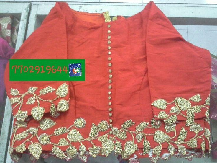 Rawsilk blouse with aplic work 7702919644