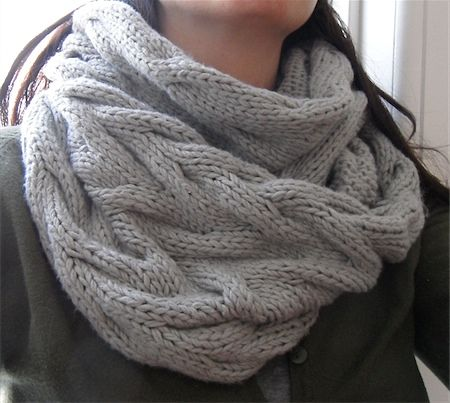 Cable cowl - maybe someone wants to knit it for my birthday???
