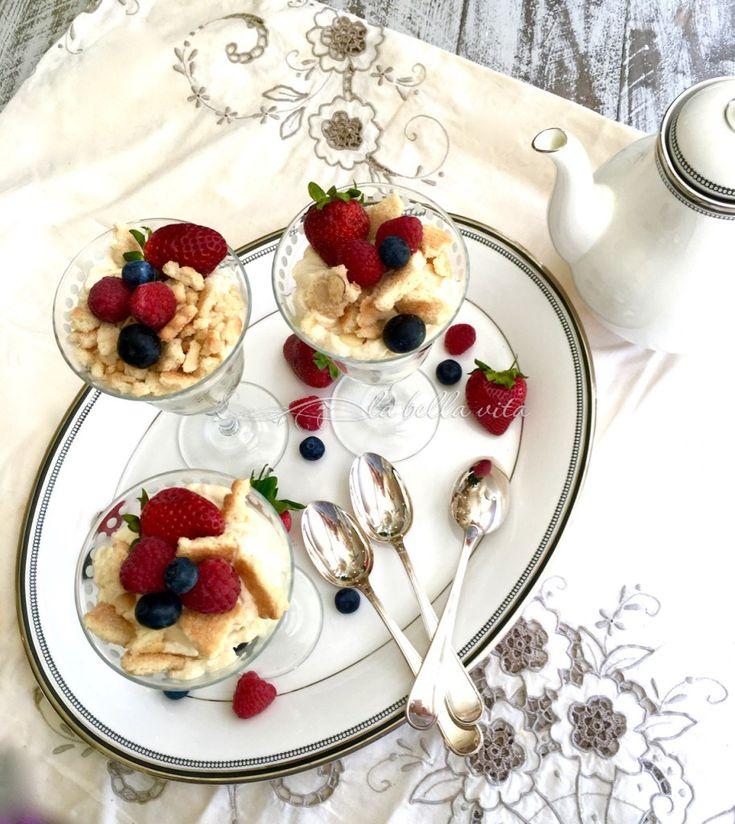 Italian Berries, Mascarpone and Marsala Budini #SundaySupper