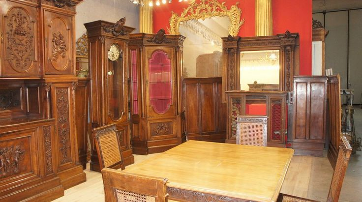 SALA DA PRANZO IN NOCE MASSELLO - Marco Polo - Antiques online -