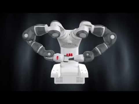 YuMi the dual-arm robot makes paper airplanes - ABB Robotics - YouTube