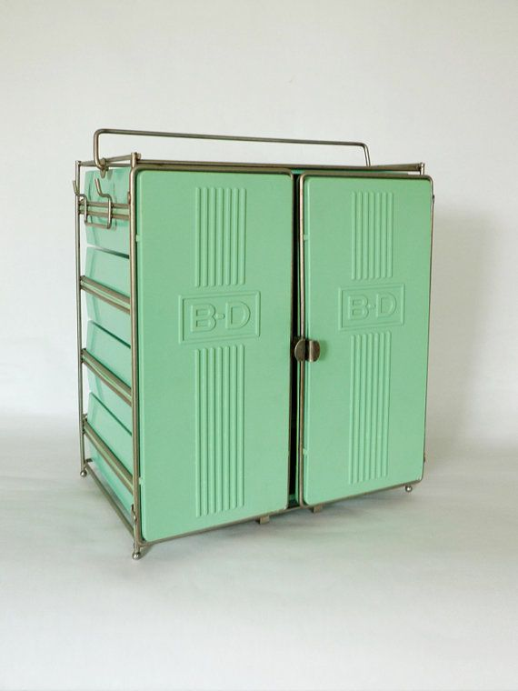 Vintage Industrial Syringe Cabinet via popbam on Etsy