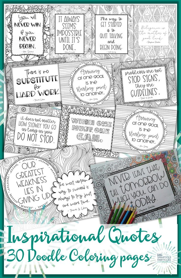 Inspirational Quotes Doodle Coloring