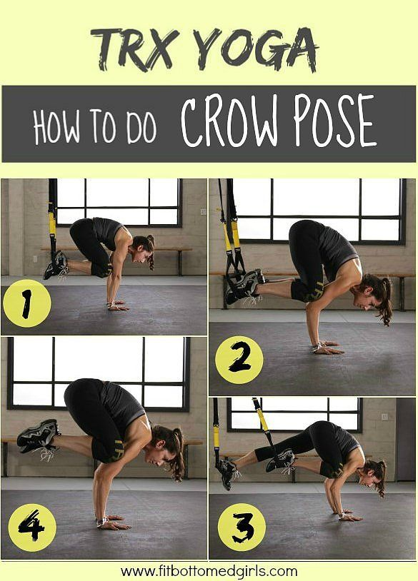 TRX yoga crow pose! Merge the exercises to get a totally different spin on your normal workout!