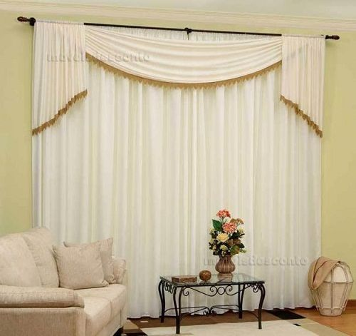 12 best images about cortinas para sala on pinterest for Modelos de cortinas