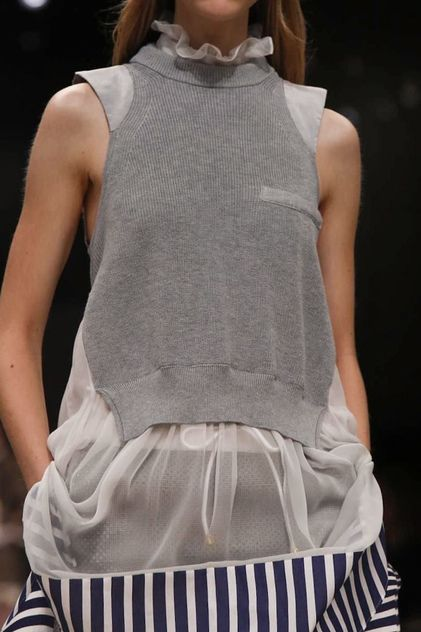 best crochet tricot images knits knit fashion  sacai ready to wear spring summer 2014 paris nowfashion