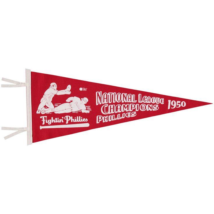 "Philadelphia Phillies Mitchell & Ness 1950 NL Champ 12"" x 30"" Pennant"