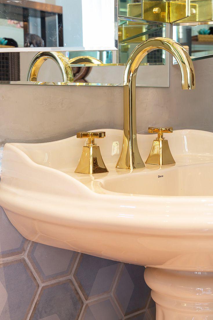 Misturador para Banheiro Mesa Wish Gold 1877.GL.WSH Deca - Padovani                                                                                                                                                                                 Mais