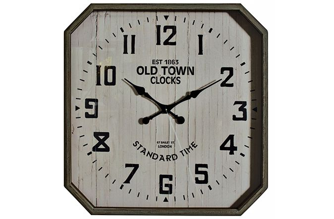 Old Town Hexagonal Oversize Wall Clock will make a stunning feature on your wall. Not only is it obviously functional but it also looks stunning . Finished in a limed oak style frame with standard numerals this clock will fit into any décor setting with ease and will keep the time ticking over for you. 79cm. €199  http://www.michaelmurphy.ie/product/old-town-hexagonal-oversize-wall-clock/ Tag PhotoAdd LocationEdit