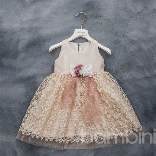 ec78e1d1220 Vintage βαπτιστικό φόρεμα Dolce Bambini, μοντέρνο, ποιοτικό και ρομαντικό  από τούλι πουά και δαντέλα