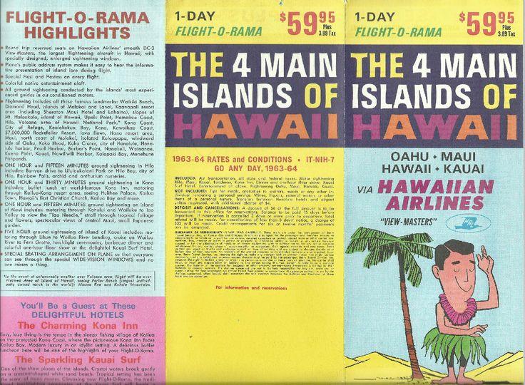 Hawaiian airlines 196364 viewmasters brochure